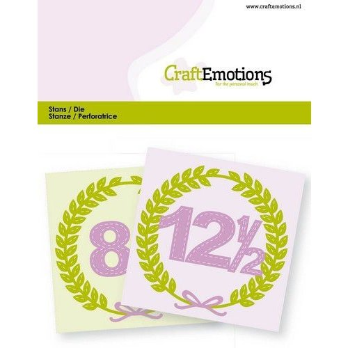 CraftEmotions 115633/0823 - CraftEmotions Die - jubileum Card 11x9cm -