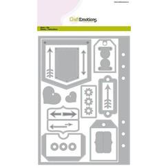 115633/1601 - CraftEmotions Die - Planner <br /> essentials 1 Card A5