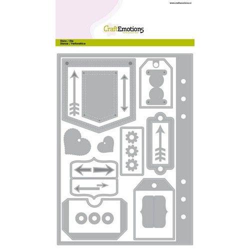 CraftEmotions 115633/1601 - CraftEmotions Die - Planner <br /> essentials 1 Card A5