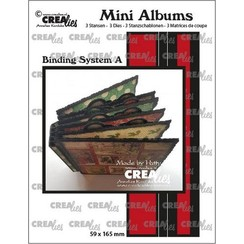 CLMA07 - Crealies stans Mini Albums  Bindsysteem A 7  59x165mm