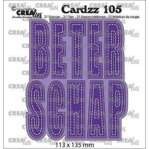 Crealies CLCZ105 - Crealies Cardzz no 105 Beterschap (NL) 05