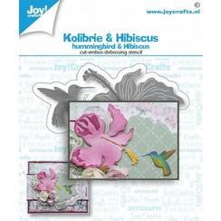 6002/1468 - Snij-debos-embosstansmal - Kolibrie & bloem