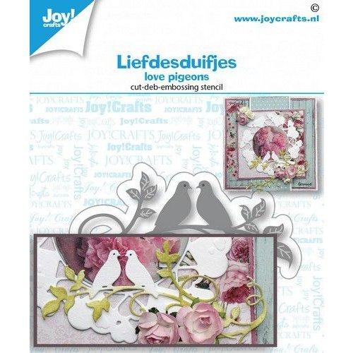 Joy!Crafts 6002/1471 - Snij-debos-embosstansmal- Liefdesduifjes