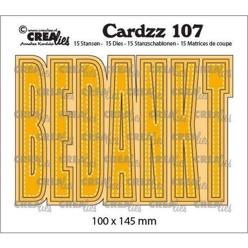 Crealies CLCZ107 - Crealies Cardzz BEDANKT (NL) 07 100x145 mm