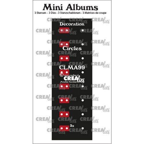 Crealies CLMA99 - Crealies stans Mini Albums  Decoratie cirkels 9 2x145 mm + 1x122 mm
