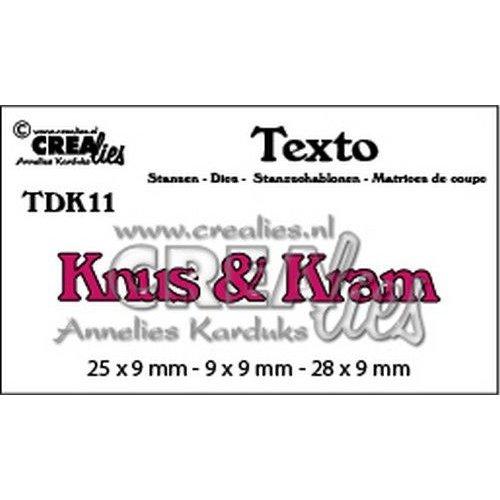 Crealies CLTDK11 - Crealies Texto Dansk Knus & Kram (DK) 11 9x9mm - 28x9mm