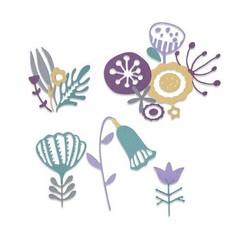 664452 - Sizzix Thinlits Die Set - 22PK Folk Florals 2 Jenna Rushforth