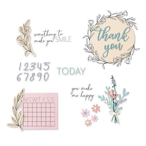 Sizzix 664490 - Sizzix Framelits Die Set - 14PK w/Stamps - Time Out 0 Sophie Guilar