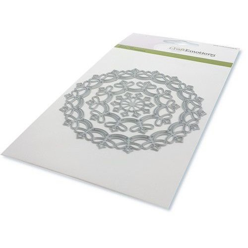 CraftEmotions 115633/0530 - CraftEmotions Die - border rond magic flower Card 10,5x14,8cm