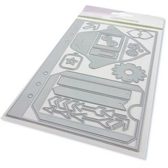 115633/1601 - CraftEmotions Die - Planner <br /> essentials S-1 Card 12x20,5cm