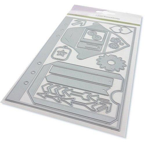 CraftEmotions 115633/1601 - CraftEmotions Die - Planner <br /> essentials S-1 Card 12x20,5cm