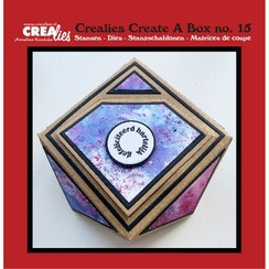 CCAB15 - Crealies Create A Box no. 15 Juwelendoosje 5 12x12 cm