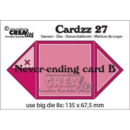 Crealies CLCZ27 - Crealies Cardzz Oneindige kaart B 7 13,5 x 13,5 cm