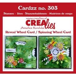 CLCZ303 - Crealies Cardzz 2x Draaikaart 03 10,5 X 10,5 cm