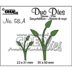 CLDD58A - Crealies Duo Dies no. 58A Blaadjes 12 spiegelbeeld CLDD58A 36x50mm