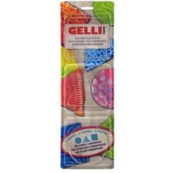 GELRST - Gelli Arts - Gel Printing Plate set rond vierkant,driehoek T