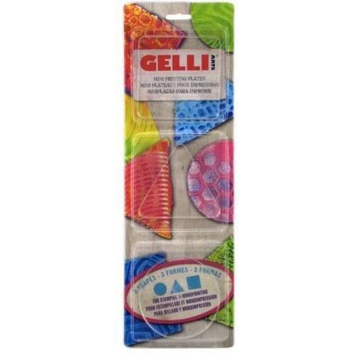 Gelli Arts GELRST - Gelli Arts - Gel Printing Plate set rond vierkant,driehoek T