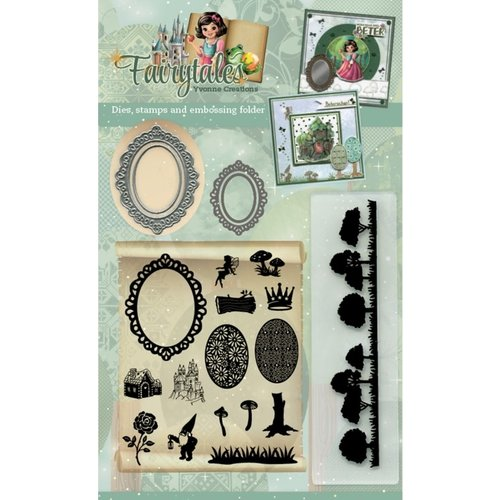 Hobby en Zo FAIRYTALES001 - Goody (Clear Stamps - Dies - Embossing Folder) - Yvonne Creations - Fairytales