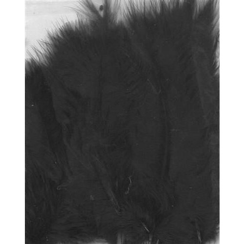 12228-2801 - Marabou Feathers,Black,15pcs