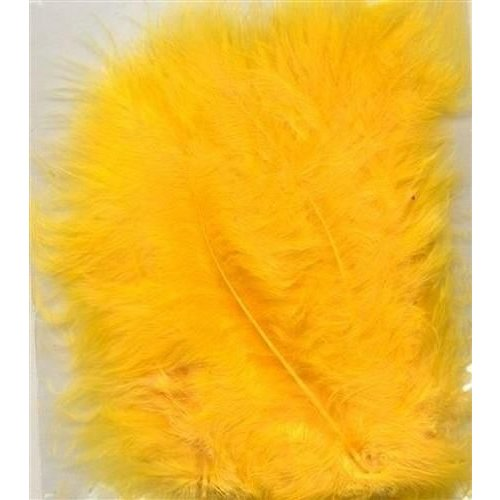 12228-2811 - Marabou Feathers,Yellow,15pcs