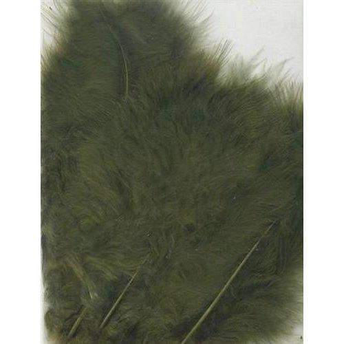 12228-2813 - Marabou Feathers,Olive,15pcs