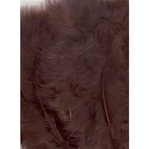 12228-2814 - Marabou Feathers,Brown,15pcs