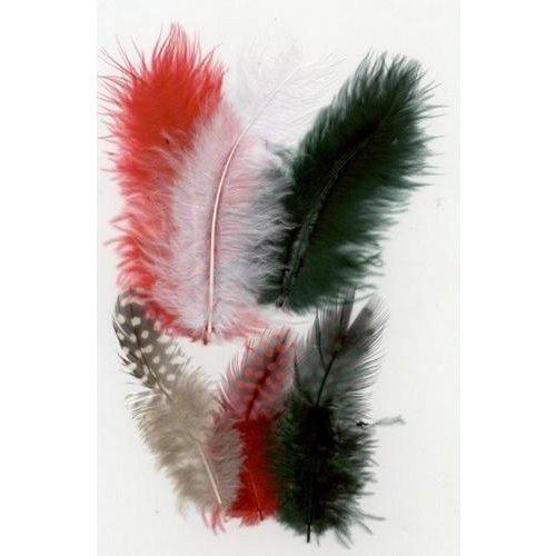 12229-2901 - Feathers,Marabou & Guinea Fowl,Ass.Mix,Christmas
