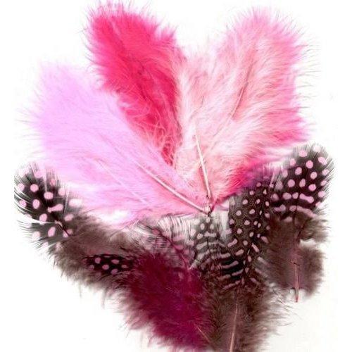 12229-2903 - Feathers,Marabou & Guinea Fowl,Ass.Mix,Girl
