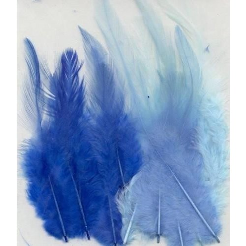 12235-3502 - Feathers, Blue, 3x5 pcs, 15pcs