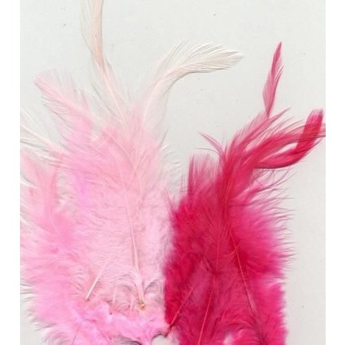 12235-3503 - Feathers, Pink, 3x5 pcs, 15pcs