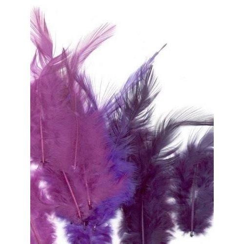 12235-3504 - Feathers, Purple, 3x5 pcs, 15pcs