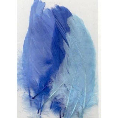 12238-3802 - Feathers, Blue, 3x5 pcs, 15pcs