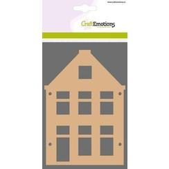 460.446.019 - CraftEmotions MDF basisvormen huis puntgevel (2-delig) 15cm x 10cm x 3mm