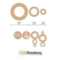 460.446.011 - CraftEmotions MDF 3 ringen 40 - 23,5 - 13,5cm x 6mm