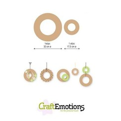 460.446.012 - CraftEmotions MDF 2 ringen 32 - 17,5cm x 6mm