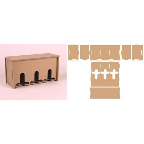 460.423.740 - Pronty MDF 3D Teabox 23.740 216,4x83,6x110mm