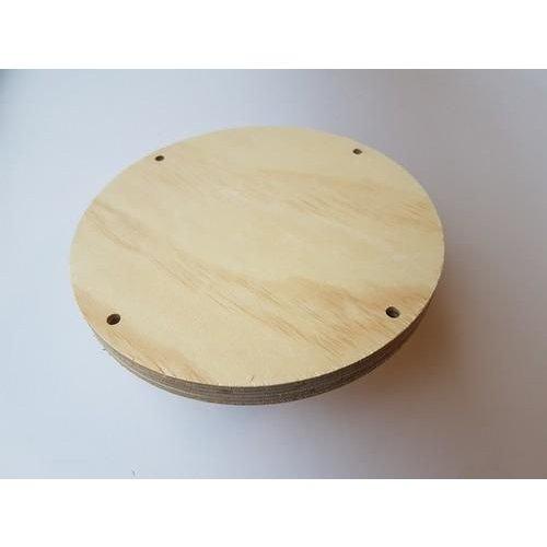 CraftEmotions .001 - CraftEmotions Craft Wood -Macramé- Plank rond 20cm - 1,8cm - holes 7mm