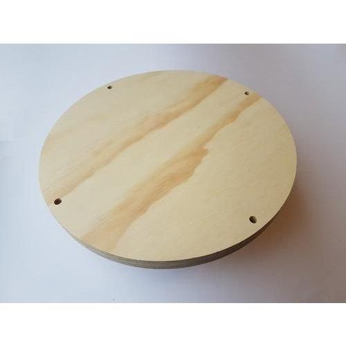 CraftEmotions .002 - CraftEmotions Craft Wood -Macramé- Plank rond 25cm - 1,8cm - holes 7mm