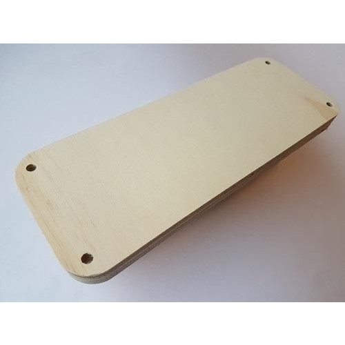 CraftEmotions .013 - CraftEmotions Craft Wood -Macramé- Plank rechthoek(afgerond) 40x10cm - 1,8cm - holes 7mm