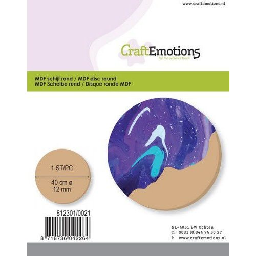 CraftEmotions 460.446.043 - CraftEmotions MDF schijf rond 40cm 12mm