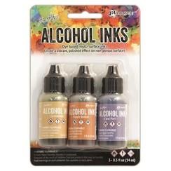 TAK25948 - Ranger Alcohol Ink Kits  Wildflowers Lemonade,Peach Bellini,.. 948 Tim Holtz 3x15ml