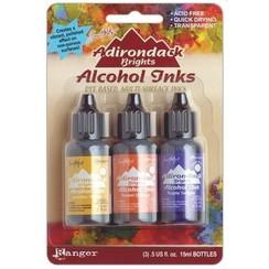 TAK25986 - Ranger Alcohol Ink Kits  Summit View Sunshine Yellow,Sunset .. 986 Tim Holtz 3x15ml