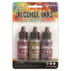 TIM19763 - Ranger Alcohol Ink Kits  Farmer's Market 3x15 ml 763 Tim Holtz 3x15ml