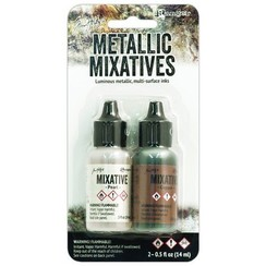 TIM21254 - Ranger Alcohol Ink Metallix Mixative - Pearl & Copper 254 Tim Holtz 2 x14ml