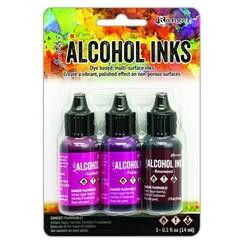 TAK69638 - Ranger Alcohol Ink Ink Kits Pink/Red Spectrum 3x15 ml 638 Tim Holtz