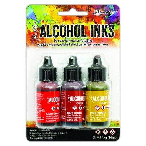 TAK69645 - Ranger Alcohol Ink Ink Kits Orange/Yellow Spectrum 3x15 ml 645 Tim Holtz
