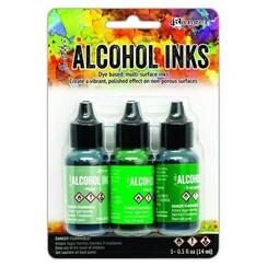 TAK69652 - Ranger Alcohol Ink Ink Kits Mint/Green Spectrum 3x15 ml 652 Tim Holtz