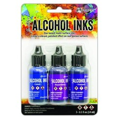 TAK69775 - Ranger Alcohol Ink Ink Kits Indigo/Violet Spectrum 3x15 ml 775 Tim Holtz