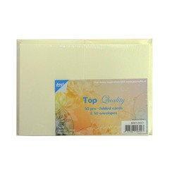 8001/0021 - Joy! Crafts TOP Quality Kaarten A6 en Enveloppen Creme C6 0021 50 st - 240 gr - 120 gr