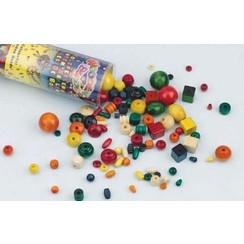 11608-2001 - Houtenkralen assorti gekleurd 250 GR -2001